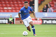 Oldham Athletic striker Aaron Amadi-Holloway (10) on the attack 0-1 during the EFL Sky Bet League 1 match between Walsall and Oldham Athletic at the Banks's Stadium, Walsall, England on 12 August 2017. Photo by Alan Franklin.