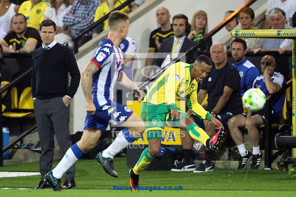 Martin Olsson of Norwich in action during the Sky Bet Championship match at Carrow Road, Norwich<br /> Picture by Paul Chesterton/Focus Images Ltd +44 7904 640267<br /> 13/09/2016
