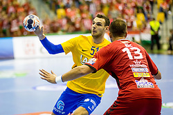 Borut Mackovsek of RK Celje Pivovarna Lasko during handball match between RK Celje Pivovarna Lasko and Telekom Veszprem in 1st round of VELUX EHF Champions League, on September 16, 2017 in Arena Zlatorog, Celje, Slovenia. Photo by Ziga Zupan / Sportida