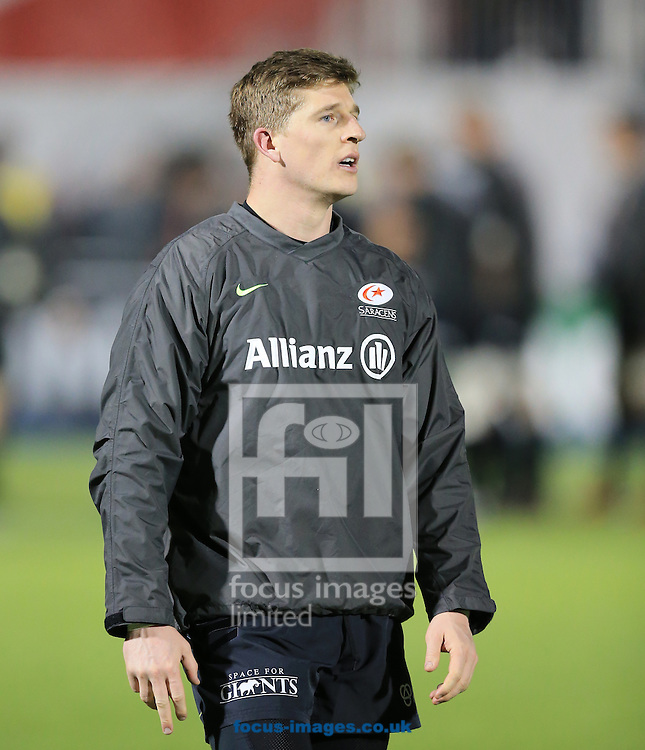 David Strettle of Saracens before the European Rugby Champions Cup match at Allianz Park, London<br /> Picture by Michael Whitefoot/Focus Images Ltd 07969 898192<br /> 13Duncan Taylor of Saracens2014