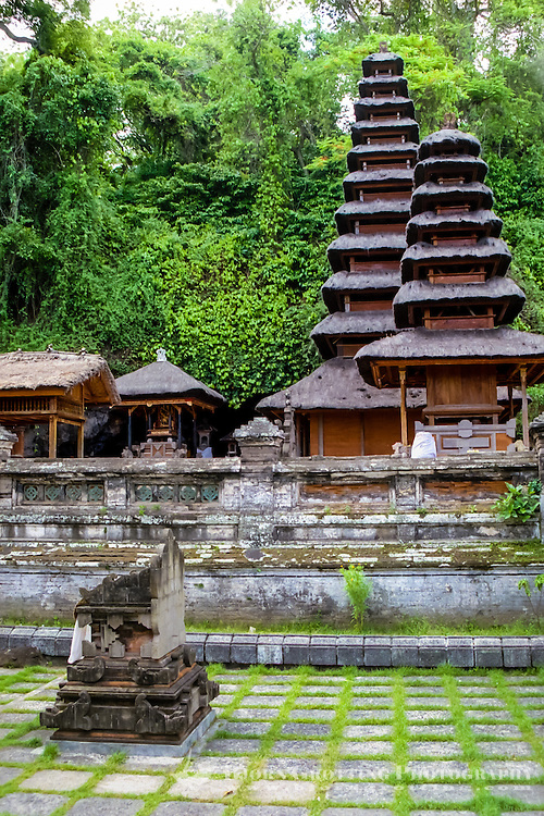 Bali, Klungkung, Goa Lawah. The bat cave. The entrance to the cave is behind these temple buildings.