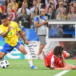 Gabriel Jesus of Brazil during the FIFA World Cup Group E match between Serbia and Brazil on June 27, 2018 in Moscow, Russia. (Photo by Anthony Dibon/Icon Sport)