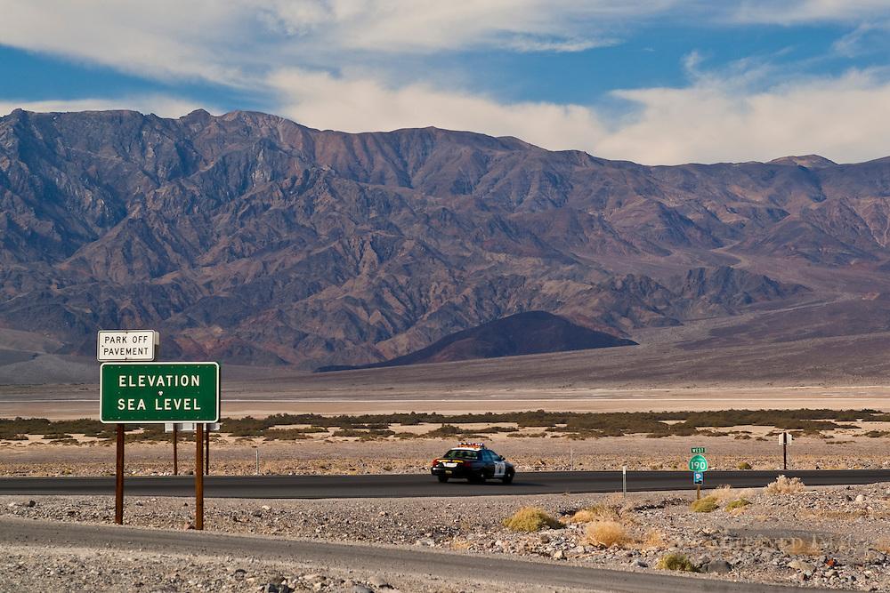 Highway Patrol car, Death Valley National Park, California