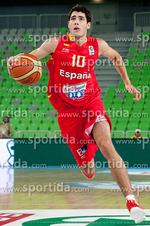 Alejandro Abrines of Spain during basketball match between National teams of Serbia and Spain in Placement match for 3rd place of U20 Men European Championship Slovenia 2012, on July 22, 2012 in SRC Stozice, Ljubljana, Slovenia. (Photo by Urban Urbanc / Sportida.com)