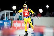&Ouml;STERSUND, SVERIGE - 2017-12-02: Jesper Nelin under herrarnas sprint t&auml;vling under IBU World Cup Skidskytte p&aring; &Ouml;stersunds Skidstadion den 2 december 2017 i &Ouml;stersund, Sverige.<br /> Foto: Johan Axelsson/Ombrello<br /> ***BETALBILD***