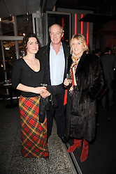 Left to right, LAULI RIDGE and the EARL & COUNTESS OF WESTMORELAND at a party to celebrate the publication of Mexican Food Made Simple by Thomasina Miers held at Wahaca, Westfield Shopping Centre, London on 2nd February 2010.
