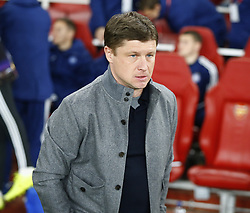 February 21, 2019 - London, Greater London, United Kingdom - Alyaksey Baha manager of FC Bate Borisow ..during UEFA Europa League Round of 32 2nd Leg between Arsenal and of Bate Borisov at Emirates stadium , London, England on 20 Feb 2019. ..Credit Action Foto Sport. (Credit Image: © Action Foto Sport/NurPhoto via ZUMA Press)