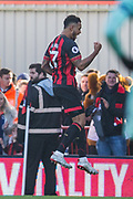 GOAL Joshua King (Bournemouth) celebrates his goal to equalise at the 45th minute during the Premier League match between Bournemouth and Arsenal at the Vitality Stadium, Bournemouth, England on 25 November 2018.