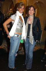 Left to right,MISS SAMIA MUBARAK and MISS ANOUSHKA BLATNIK at a party to launch Riggid - T-shirt Couture held at Momo's Kemia Bar, 25 Heddon Street, London W1 on 18th November 2004.<br /><br />NON EXCLUSIVE - WORLD RIGHTS