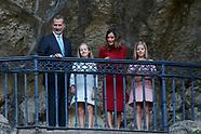 090818 Spanish Royals visit Asturias, Santa Cueva de Covadonga