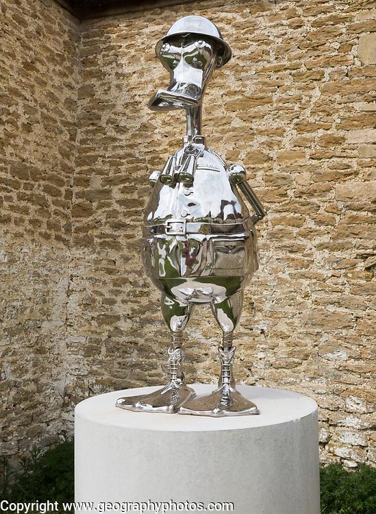 Hauser and Wirth art gallery, restaurant and garden, Durslade Farm, Bruton, Somerset, England, UK metal sculpture