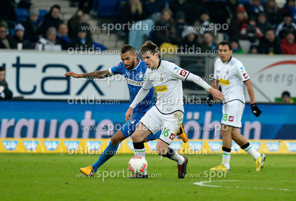 19.01.2013, Rhein Neckar Arena, Sinsheim, GER, 1. FBL, TSG 1899 Hoffenheim vs Borussia Moenchengladbach, 18. Runde, im Bild Daniel WILLIAMS TSG 1899 Hoffenheim (links) gegen Havard NORDTVEIT Borussia Mönchengladbach (rechts), ganz rechts Juan ARANGO Borussia Mönchengladbach // during the German Bundesliga 18th round match between Bayer 04 Leverkusen and Eintracht Frankfurt at the BayArena, Leverkusen, Germany on 2013/01/19. EXPA Pictures © 2013, PhotoCredit: EXPA/ Eibner/ Weber..***** ATTENTION - OUT OF GER *****