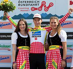 10.07.2015, Kitzbühel, AUT, Österreich Radrundfahrt, 6. Etappe, Lienz auf das Kitzbühler Horn, im Bild Felix Großschartner (AUT, 1. Platz Bergwertung) // Leader king of the mountain Felix Großschartner of Austria during the Tour of Austria, 6th Stage, from Lienz to the Kitzbühler Horn, Kitzbühel, Austria on 2015/07/10. EXPA Pictures © 2015, PhotoCredit: EXPA/ Reinhard Eisenbauer