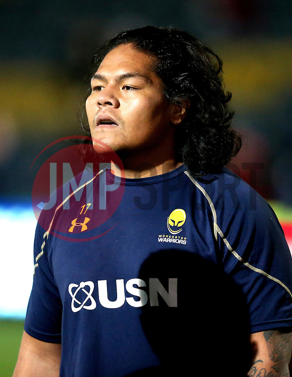 Na'ama Leleimalefaga of Worcester Warriors - Mandatory by-line: Robbie Stephenson/JMP - 04/11/2016 - RUGBY - Sixways Stadium - Worcester, England - Worcester Warriors v Bristol Rugby - Anglo Welsh Cup