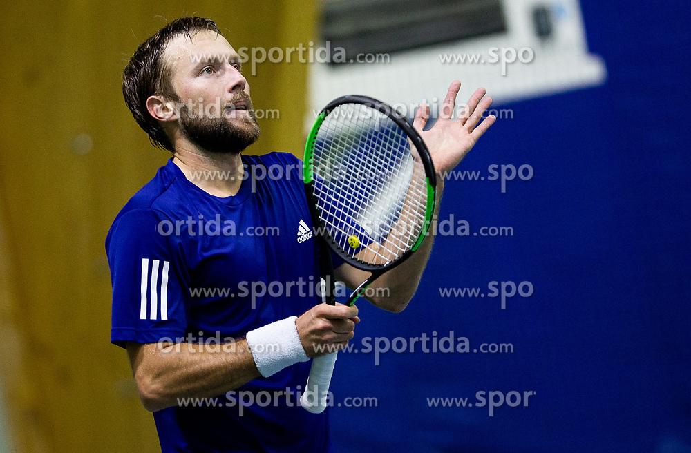 Tom Kocevar Desman after winning final match during Slovenian National Tennis Championship 2019, on December 21, 2019 in Medvode, Slovenia. Photo by Vid Ponikvar/ Sportida