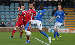 Mohamed Eisa of Peterborough United in action with Max Ehmer of Gillingham - Mandatory by-line: Joe Dent/JMP - 11/01/2020 - FOOTBALL - Weston Homes Stadium - Peterborough, England - Peterborough United v Gillingham - Sky Bet League One