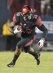September 16, 2017 - San Diego, CA, USA - San Diego State running back Rashaad Penny carries the ball in the first quarter against Stanford at Jack Murphy Stadium in San Diego on Saturday, Sept. 16, 2017. (Credit Image: © Hayne Palmour Iv/TNS via ZUMA Wire)