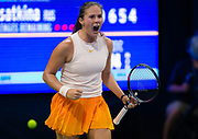 Daria Kasatkina of Russia in action during the first round of the 2018 US Open Grand Slam tennis tournament, at Billie Jean King National Tennis Center in Flushing Meadow, New York, USA, August 28th 2018, Photo Rob Prange / SpainProSportsImages / DPPI / ProSportsImages / DPPI