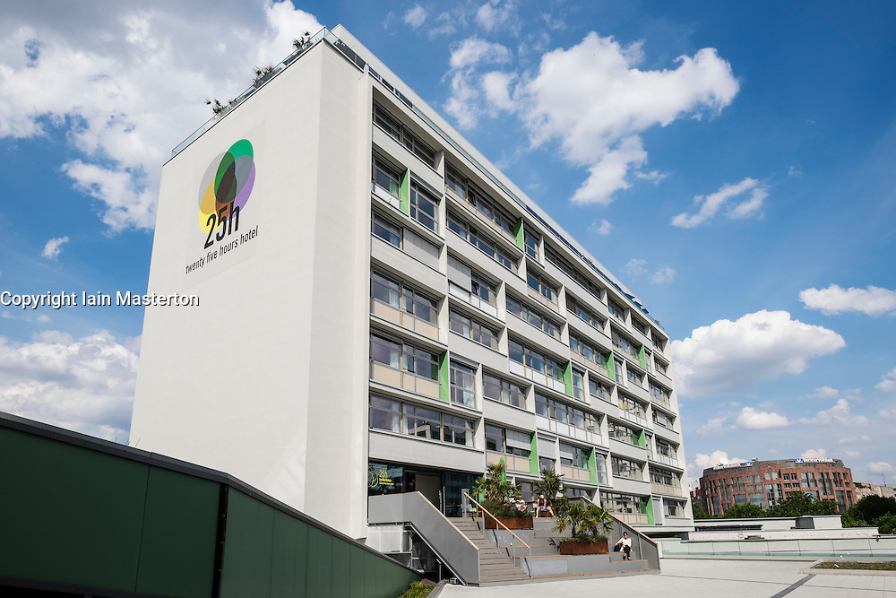 New Twenty Five Hours Hotel (25 Hours Hotel) in former Bikini Haus at Charlottenburg Berlin Germany