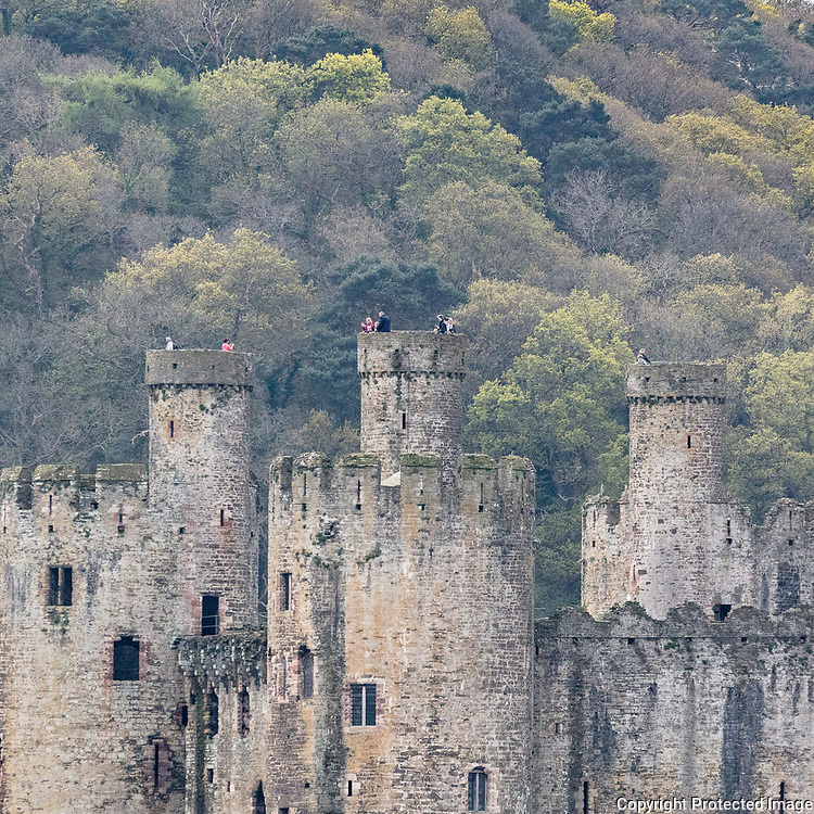 Towers, Conwy castle, Conwy.