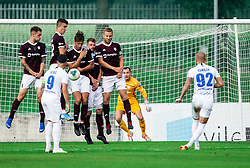 Players of Triglav in action during football match between NK Triglav and NK Celje in 7th Round of Prva liga Telekom Slovenije 2019/20, on August 25, 2019 in Sports park, Kranj, Slovenia. Photo by Vid Ponikvar / Sportida
