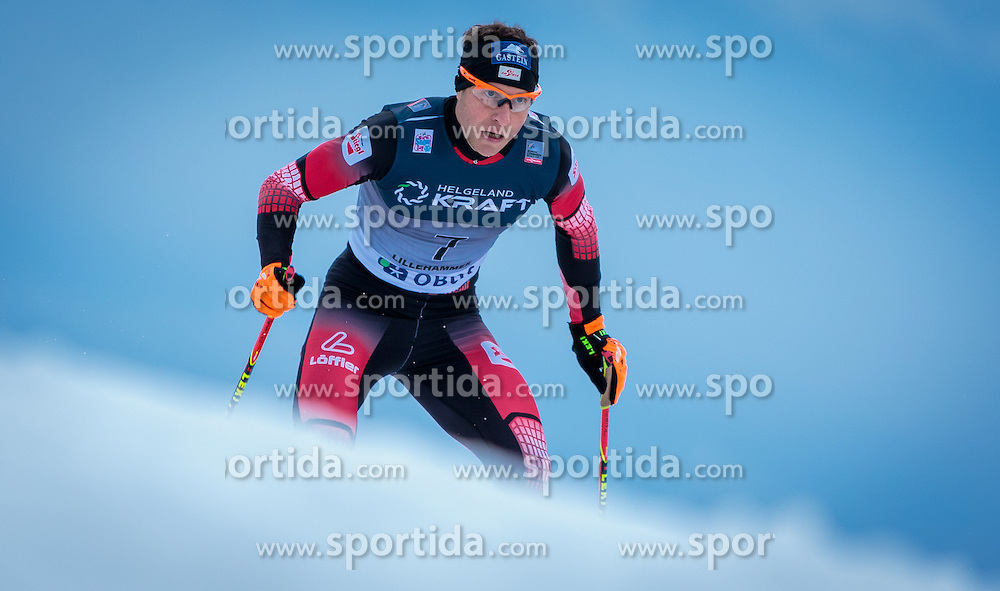05.12.2015, Nordic Arena, NOR, FIS Weltcup Nordische Kombination, Lillehammer, Langlauf, im Bild Bernhard Gruber (AUT) // Bernhard Gruber of Austria during Cross Country Competition of FIS Nordic Combined World Cup at the Nordic Arena, Lillehammer, Norway on 2015/12/05. EXPA Pictures © 2015, PhotoCredit: EXPA/ JFK