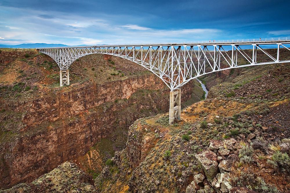 The Rio Grande River Gorge bridge west of Taos, New Mexico.