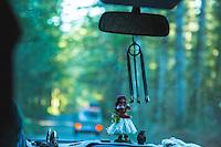 Van camping, Olympic National Park, WA.