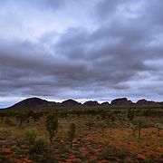 Dramatic clouds at dawn over Kata Tjuta