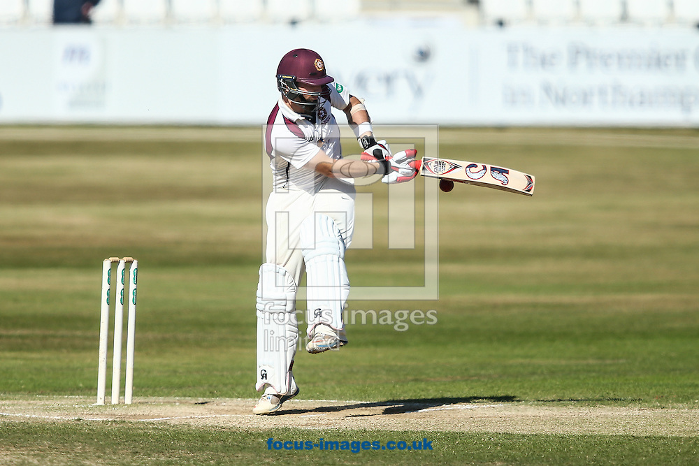 Steven Crook of Northamptonshire CCC during the Specsavers County C'ship Div Two match at the County Ground, Northampton<br /> Picture by Andy Kearns/Focus Images Ltd 0781 864 4264<br /> 15/08/2016