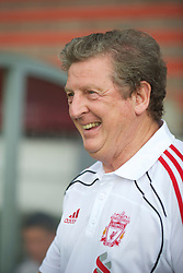 ZUG, SWITZERLAND - Wednesday, July 21, 2010: Liverpool's manager Roy Hodgson before the Reds' first preseason match of the 2010/2011 season against Grasshopper Club Zurich at the Herti Stadium. (Pic by David Rawcliffe/Propaganda)