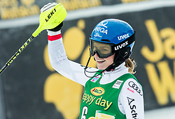"Bernadette Schild (AUT) during 2nd Run of the FIS Alpine Ski World Cup 2017/18 7th Ladies' Slalom race named ""Golden Fox 2018"", on January 7, 2018 in Podkoren, Kranjska Gora, Slovenia. Photo by Ziga Zupan / Sportida"