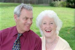 Older couple sharing a joke,