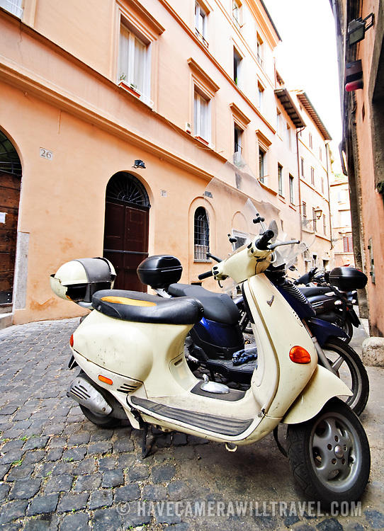 ROME, Italy - Scooters on the streets of Rome