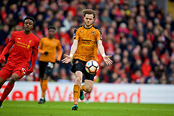 LIVERPOOL, ENGLAND - Saturday, January 28, 2017: Wolverhampton Wanderers' Richard Stearman in action against Liverpool during the FA Cup 4th Round match at Anfield. (Pic by David Rawcliffe/Propaganda)