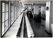 Tea Tasting Room.<br /> From John Keells album of photos of warehouse, office and stores.