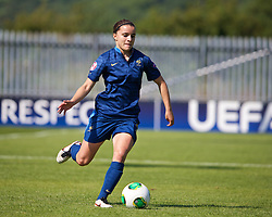 HAVERFORDWEST, WALES - Sunday, August 25, 2013: France's Aurelie Gagnet in action against Wales during the Group A match of the UEFA Women's Under-19 Championship Wales 2013 tournament at the Bridge Meadow Stadium. (Pic by David Rawcliffe/Propaganda)