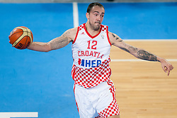 Damir Markota #12 of Croatia during basketball match between National teams of Croatia and Ukraina in ranking of 5th to 8th place at Day 16 of Eurobasket 2013 on September 19, 2013 in SRC Stozice, Ljubljana, Slovenia. (Photo By Urban Urbanc / Sportida)