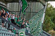 AB-fans byder spillerne velkommen før kampen i Sydbank Pokalen, 1. runde,  mellem AB og FC Helsingør den 6. august 2019 på Gladsaxe Stadion (Foto: Claus Birch).