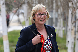 © Licensed to London News Pictures. 06/05/2016. Sheffield, UK.  Labour MP Gill Furniss was victorious in the Sheffield Brightside and Hillsborough by-election. The by-election was triggered after the death of Labour MP Harry Harpham in February. In other elections around the country Labour held it's ground in England and didn't do as badly as was predicted in the local council elections.  Photo credit : Ian Hinchliffe/LNP