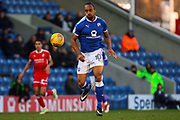 Chesterfield forward Chris O'Grady keeps his eyes on the ball during the EFL Sky Bet League 2 match between Chesterfield and Swindon Town at the Proact stadium, Chesterfield, England on 24 February 2018. Picture by Aaron  Lupton.