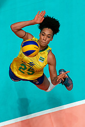 29-05-2019 NED: Volleyball Nations League Poland - Brazil, Apeldoorn<br /> Milka Marcília Medeiros Silva #25 of Brazil