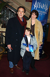 ROBERT & ROSEMARY LINDSEY and his son SAM at the press night of Cirque Du Soleil's 'Alegria' held at the Royal Albert, London on 5th January 2006.<br />