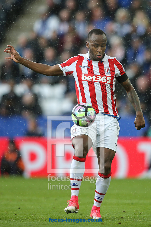 Saido Berahino of Stoke City during the Premier League match at the King Power Stadium, Leicester<br /> Picture by Andy Kearns/Focus Images Ltd 0781 864 4264<br /> 01/04/2017