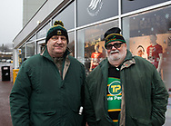 Northampton Saints fans before the match<br /> <br /> Photographer Simon King/Replay Images<br /> <br /> EPCR Champions Cup Round 4 - Ospreys v Northampton Saints - Sunday 17th December 2017 - Parc y Scarlets - Llanelli<br /> <br /> World Copyright &copy; 2017 Replay Images. All rights reserved. info@replayimages.co.uk - www.replayimages.co.uk