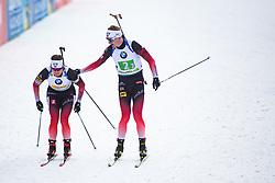 Johannes Thingnes Boe (NOR), Tarjei Boe (NOR) exchange the Mixed Relay 2x 6 km / 2x 7,5 km at day 3 of IBU Biathlon World Cup 2019/20 Pokljuka, on January 23, 2020 in Rudno polje, Pokljuka, Pokljuka, Slovenia. Photo by Peter Podobnik / Sportida
