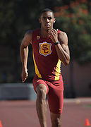 Nov 2, 2017; Los Angeles, CA, USA; Southern California Trojans sprintner Raynard Beckham runs during workout at Cromwell Field.