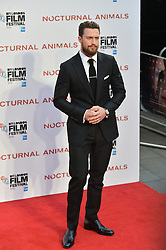 © Licensed to London News Pictures. 14/10/2016. ARRON TAYLOR-JOHNSON attends the Nocturnal Animals film premiere of as part of the London Film Festival. London, UK. Photo credit: Ray Tang/LNP