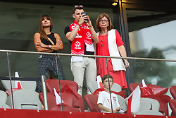 June 10, 2019 - Warsaw, Poland - Anna Lewandowska wife of Poland's forward Robert Lewandowsk looks on during the UEFA Euro 2020 qualifier Group G football match Poland against Israel on June 10, 2019 in Warsaw, Poland. (Credit Image: © Foto Olimpik/NurPhoto via ZUMA Press)