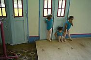 Young girls attending a pre-ballet class at ¨Los Cisnes¨Dance School in Cartagena.
